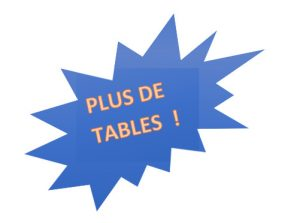 Plus de table
