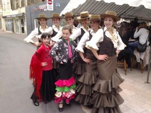 nos danseuses lors soirée du 20 avril 2016  à l'épicerie Espagnole MDM
