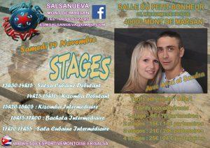 Affiche Stages 19 Novembre 2016 Alex et Sandra
